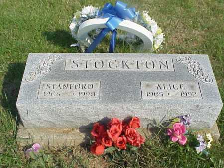 STOCKTON, ALICE - Meigs County, Ohio | ALICE STOCKTON - Ohio Gravestone Photos