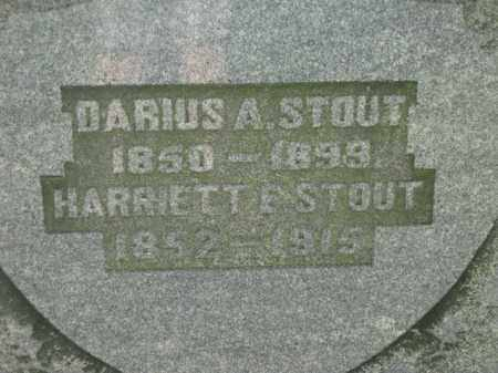 STOUT, DARIUS A - Meigs County, Ohio | DARIUS A STOUT - Ohio Gravestone Photos
