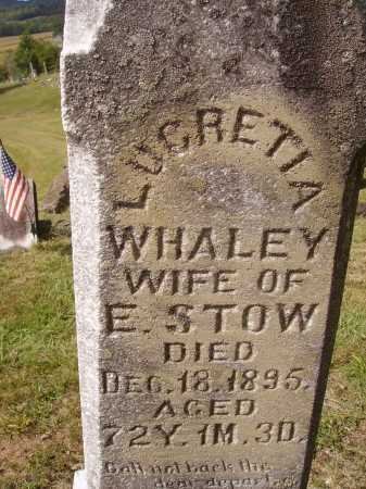 WHALEY STOW, LUCRETIA - Meigs County, Ohio | LUCRETIA WHALEY STOW - Ohio Gravestone Photos