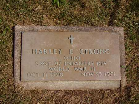 STRONG, HARLEY E. - MILITARY - Meigs County, Ohio | HARLEY E. - MILITARY STRONG - Ohio Gravestone Photos