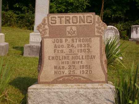 HOLLIDAY STRONG, EMOLINE - Meigs County, Ohio | EMOLINE HOLLIDAY STRONG - Ohio Gravestone Photos