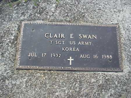 SWAN, CLAIR E. - Meigs County, Ohio | CLAIR E. SWAN - Ohio Gravestone Photos