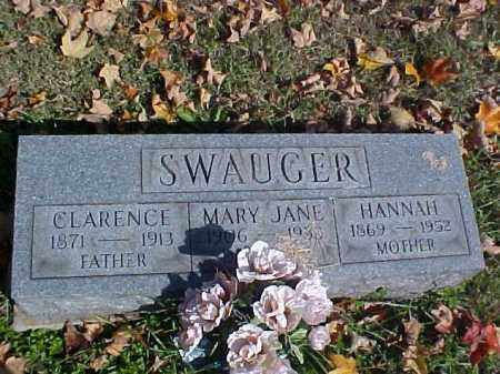 SWAUGER, HANNAH - Meigs County, Ohio | HANNAH SWAUGER - Ohio Gravestone Photos