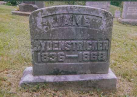 HUNT SYDENSTRICKER, JANE ANN - Meigs County, Ohio | JANE ANN HUNT SYDENSTRICKER - Ohio Gravestone Photos
