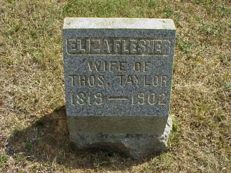 FLESHER TAYLOR, ELIZA - Meigs County, Ohio | ELIZA FLESHER TAYLOR - Ohio Gravestone Photos