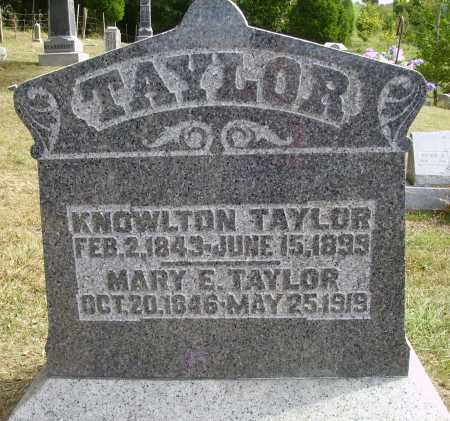 TAYLOR, KNOWLTON - Meigs County, Ohio | KNOWLTON TAYLOR - Ohio Gravestone Photos