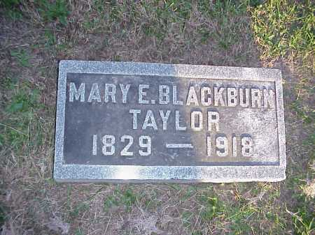 BLACKBURN TAYLOR, MARY E. - Meigs County, Ohio | MARY E. BLACKBURN TAYLOR - Ohio Gravestone Photos
