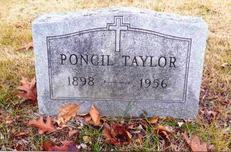 TAYLOR, PONCIL - Meigs County, Ohio | PONCIL TAYLOR - Ohio Gravestone Photos