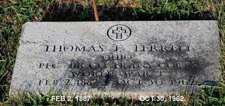 TERRELL, THOMAS E. - Meigs County, Ohio | THOMAS E. TERRELL - Ohio Gravestone Photos