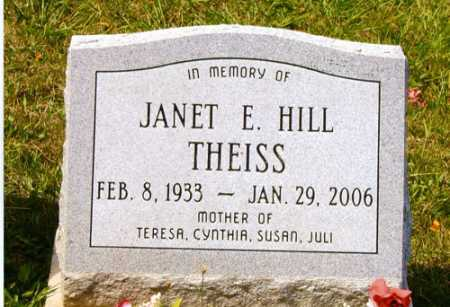 THEISS, JANET E. - Meigs County, Ohio | JANET E. THEISS - Ohio Gravestone Photos