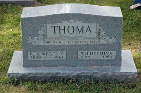 THOMA, WILHELMINA - Meigs County, Ohio | WILHELMINA THOMA - Ohio Gravestone Photos
