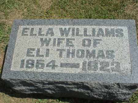 WILLIAMS THOMAS, ELLA - Meigs County, Ohio | ELLA WILLIAMS THOMAS - Ohio Gravestone Photos