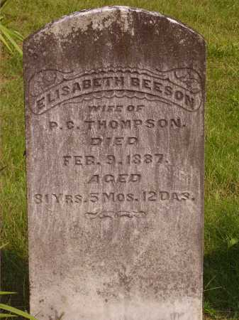 BEESON THOMPSON, ELISABETH - Meigs County, Ohio | ELISABETH BEESON THOMPSON - Ohio Gravestone Photos