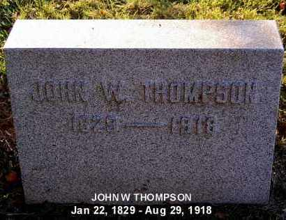 THOMPSON, JOHN W. - Meigs County, Ohio | JOHN W. THOMPSON - Ohio Gravestone Photos