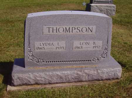 EDMUNDSON THOMPSON, LYDIA LENORA - Meigs County, Ohio | LYDIA LENORA EDMUNDSON THOMPSON - Ohio Gravestone Photos