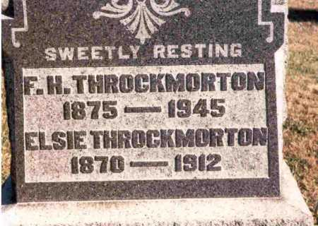 THROCKMORTON, ELSIE - Meigs County, Ohio | ELSIE THROCKMORTON - Ohio Gravestone Photos