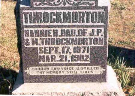 THROCKMORTON, NANNIE - Meigs County, Ohio | NANNIE THROCKMORTON - Ohio Gravestone Photos