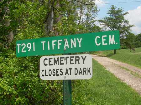 TIFFANY CEMETERY, SIGN - Meigs County, Ohio | SIGN TIFFANY CEMETERY - Ohio Gravestone Photos