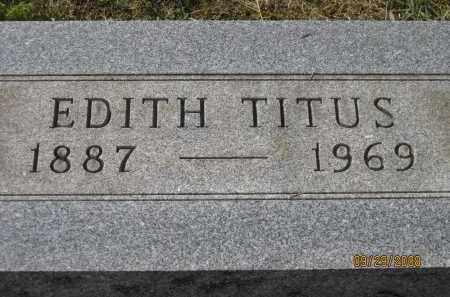 TITUS, EDITH - Meigs County, Ohio | EDITH TITUS - Ohio Gravestone Photos