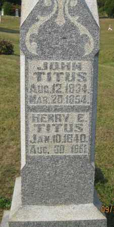 TITUS, HENRY E. - Meigs County, Ohio | HENRY E. TITUS - Ohio Gravestone Photos