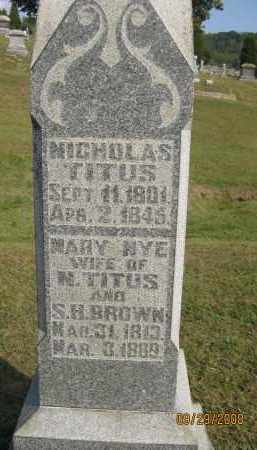 TITUS, NICHOLAS - Meigs County, Ohio | NICHOLAS TITUS - Ohio Gravestone Photos