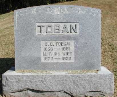 TOBAN, D. O. - Meigs County, Ohio | D. O. TOBAN - Ohio Gravestone Photos