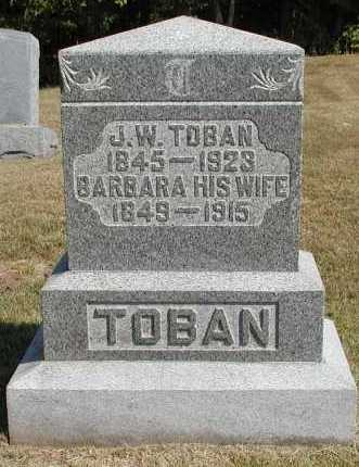 TOBAN, BARBARA - Meigs County, Ohio | BARBARA TOBAN - Ohio Gravestone Photos