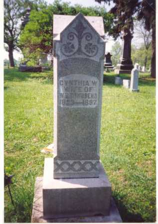 STEVENS TOWNSEND, CYNTHIA - Meigs County, Ohio | CYNTHIA STEVENS TOWNSEND - Ohio Gravestone Photos