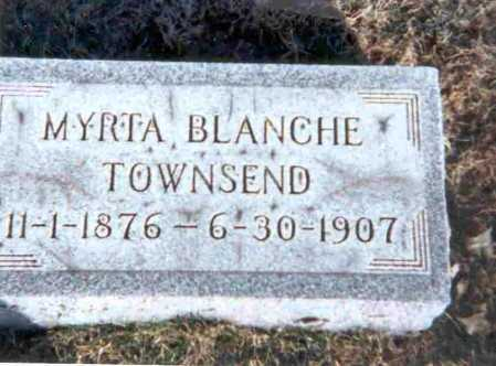 TOWNSEND, MYRTA BLANCHE - Meigs County, Ohio | MYRTA BLANCHE TOWNSEND - Ohio Gravestone Photos