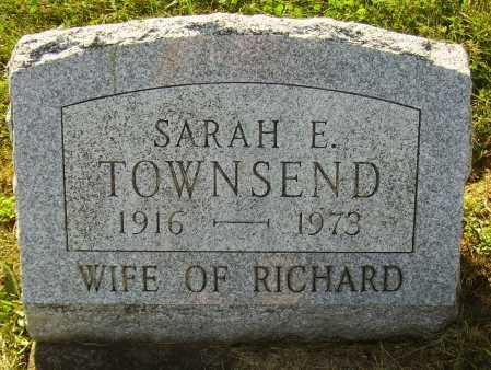 TOWNSEND, SARAH E. - Meigs County, Ohio | SARAH E. TOWNSEND - Ohio Gravestone Photos