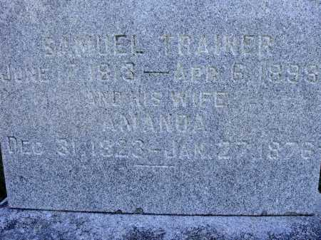 TRAINER, AMANDA - CLOSER VIEW - Meigs County, Ohio | AMANDA - CLOSER VIEW TRAINER - Ohio Gravestone Photos