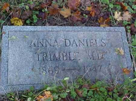 TRIMBLE, ANNA, M.D. - Meigs County, Ohio | ANNA, M.D. TRIMBLE - Ohio Gravestone Photos