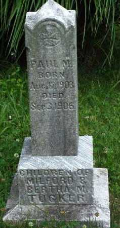 TUCKER, PAUL M. - Meigs County, Ohio | PAUL M. TUCKER - Ohio Gravestone Photos