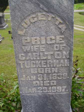 PRICE TUCKERMAN, LUCETTA - Meigs County, Ohio | LUCETTA PRICE TUCKERMAN - Ohio Gravestone Photos