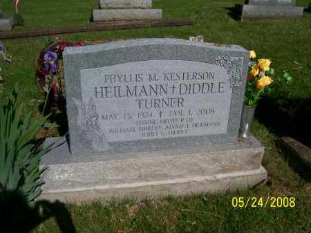 KESTERSON TURNER, PHYLLIS M. - Meigs County, Ohio | PHYLLIS M. KESTERSON TURNER - Ohio Gravestone Photos