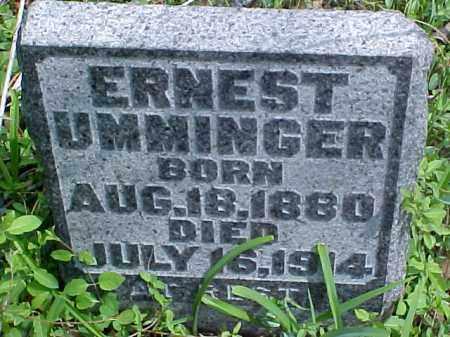 UMMINGER, ERNEST - Meigs County, Ohio | ERNEST UMMINGER - Ohio Gravestone Photos