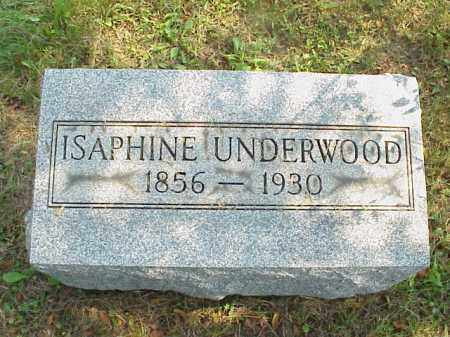 UNDERWOOD, ISAPHINE - Meigs County, Ohio | ISAPHINE UNDERWOOD - Ohio Gravestone Photos