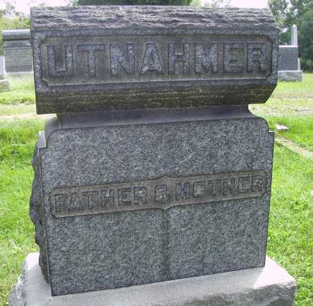 UTNAHMER, FATHER & MOTHER - Meigs County, Ohio | FATHER & MOTHER UTNAHMER - Ohio Gravestone Photos