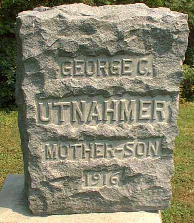 UTNAHMER, GEORGE C. - Meigs County, Ohio | GEORGE C. UTNAHMER - Ohio Gravestone Photos
