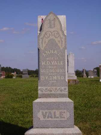 VALE, ANNA E. - Meigs County, Ohio | ANNA E. VALE - Ohio Gravestone Photos