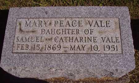 VALE, MARY PEACE - Meigs County, Ohio | MARY PEACE VALE - Ohio Gravestone Photos