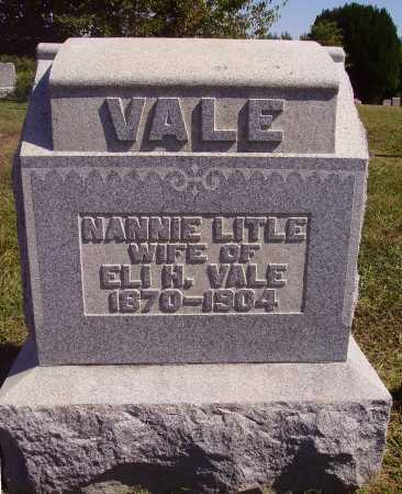 LITLE VALE, NANNIE - Meigs County, Ohio | NANNIE LITLE VALE - Ohio Gravestone Photos