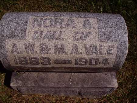 VALE, NORA A. - Meigs County, Ohio | NORA A. VALE - Ohio Gravestone Photos