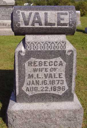 VALE, REBECCA - Meigs County, Ohio | REBECCA VALE - Ohio Gravestone Photos
