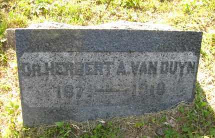 VANDUYN, DR. HERBERT A - Meigs County, Ohio | DR. HERBERT A VANDUYN - Ohio Gravestone Photos