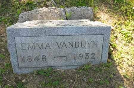 VANDUYN, EMMA - Meigs County, Ohio | EMMA VANDUYN - Ohio Gravestone Photos