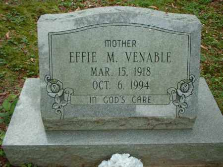 VENABLE, EFFIE M. - Meigs County, Ohio | EFFIE M. VENABLE - Ohio Gravestone Photos