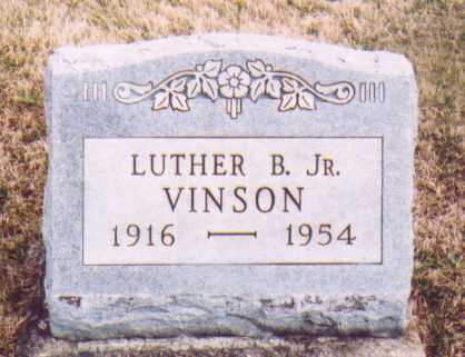 VINSON JR., LUTHER B. - Meigs County, Ohio | LUTHER B. VINSON JR. - Ohio Gravestone Photos