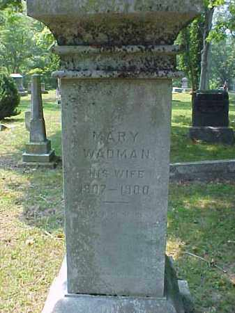 WADMAN, MARY - Meigs County, Ohio | MARY WADMAN - Ohio Gravestone Photos