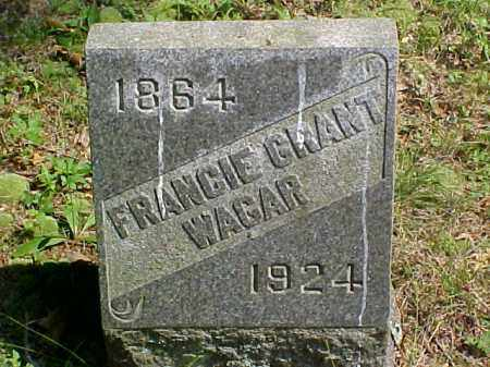 WAGAR, FRANCIE - Meigs County, Ohio | FRANCIE WAGAR - Ohio Gravestone Photos